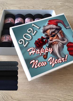 С Новым годом, Подарочный набор носков (кейс носков), 10 пар