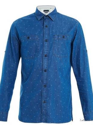Джинсовая рубашка в якоря для мужчин от jack&jones