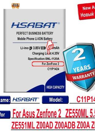 Аккумуляторы HSABAT 4950 мАч C11P1424 для Asus Zenfone 2 ZE551...