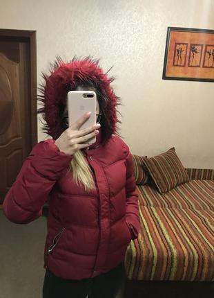 Зимняя куртка от bershka размер с-м