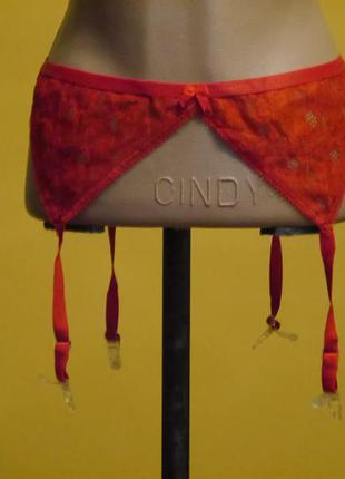 Пояс-подвязки для чулок  еротичні червоні