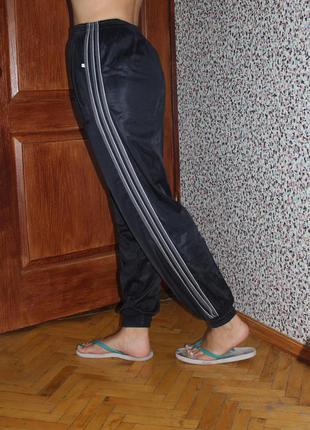 Штаны спортивные с лампасами темно синие с полосками maradona ...
