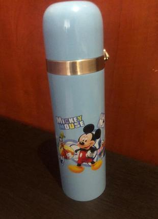 Термос термокружка mickey mouse 500мл голубой