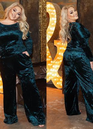 Пижама Мод 966 Размер:48-50,52-54,56-58,60-62 Ткань: мраморный ве