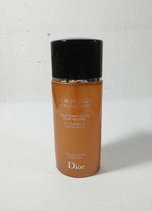 Автозагар dior auto-bronze self-tanning oil natural glow