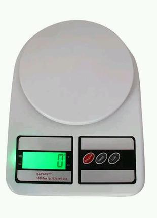 Весы кухонные sf 400  с Led подсветкой.