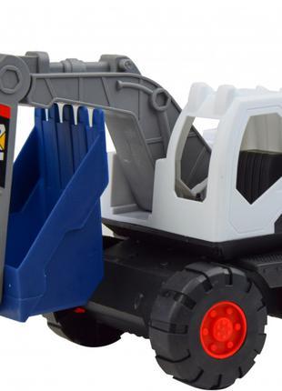 Игрушка Экскаватор пластмассовый в коробке 21x24x14 (2018-16)