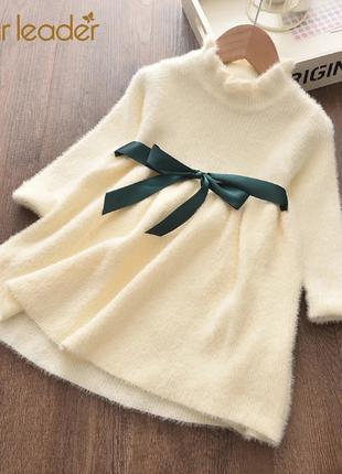 Милое детское теплое платье, на 1-3 лет, новое