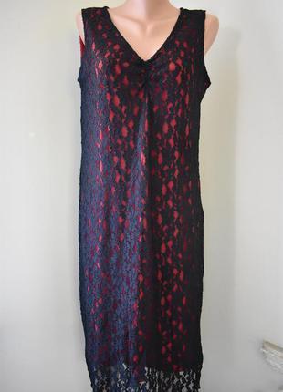Новое красивое кружевное платье большого размера