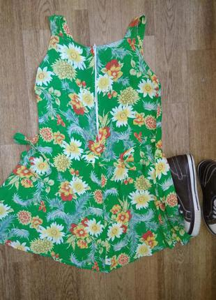 Короткое летнее легкое платье / сарафан клеш