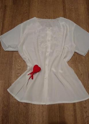 Обалденная женственная блузочка, легкая прозрачная с вышивкой,...