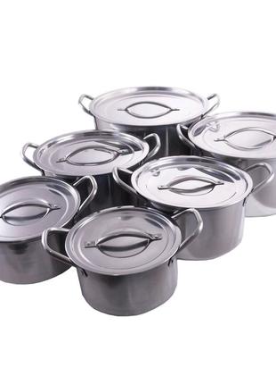 Набор посуды нержавеющий Empire - 1 x 2,3 x 3 x 3,8 x 5,5 x 7,3 л