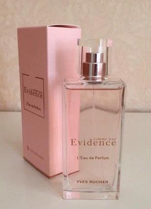 Ив роше парфюмированная вода comme une evidence ив роше 50мл