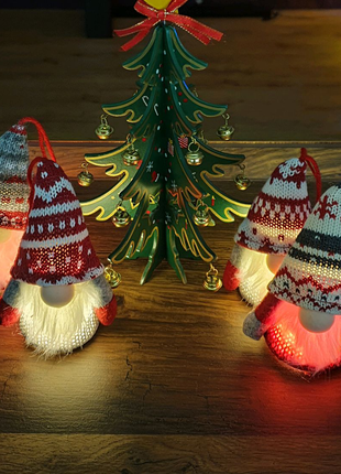 Gnome Christmas Ornaments with LED Light