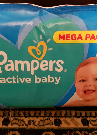 Pampers active baby 4. 132шт