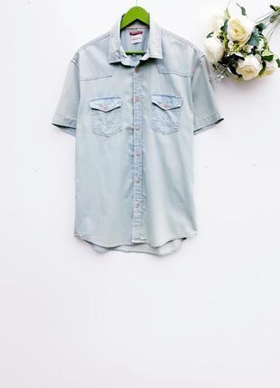 Мужская рубашка джинсовая рубашка супер качества