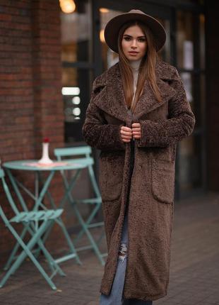 Стильное зимнее пальто, утепленное пальто
