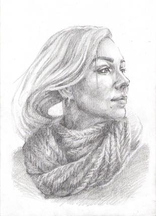 Портрет на заказ по фото, простой карандаш