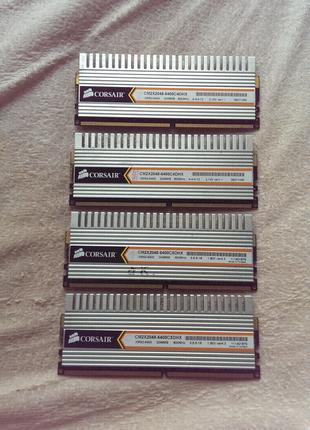Оперативная память DDR2 Corsair 4 планки по 2 GB (8GB)