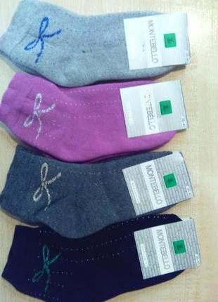 Носки махровые женские укороченые montebello турция