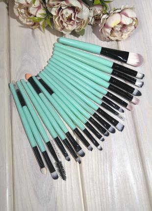 20 шт кисти для макияжа набор blue/black probeauty