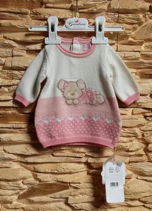 Теплое платье mayoral (испания) для новорожденных (размер 50)