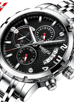 NIBOSI Reloj Hombre Quartz Наручные мужские часы кварцевые