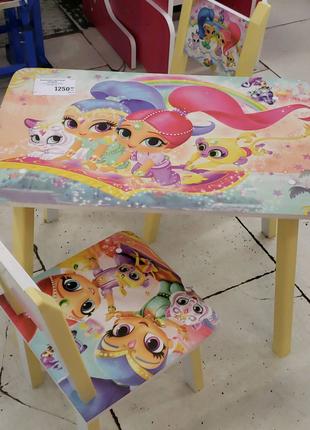 Комплект стол и ц стула для девочки Шиммер и Шайн