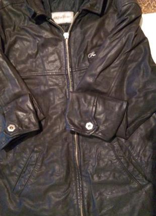 Мужская куртка из натуральной кожи,италия.демисезон