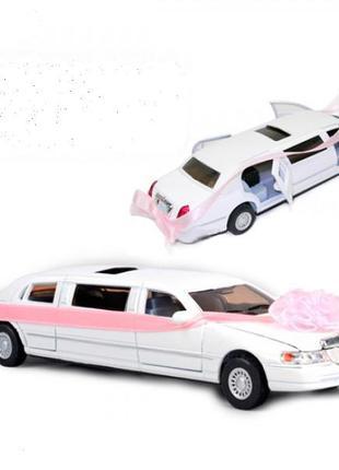 Свадебный лимузин-мечта любой невесты машинка металл.