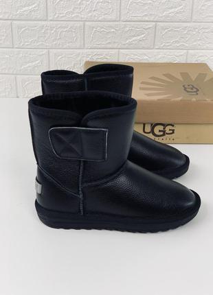 Мужские кожаные угги сапоги ботинки мужские ugg