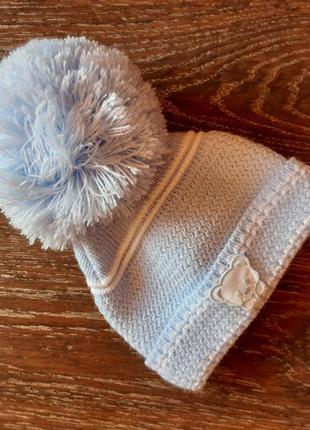 Шапочка шапка зимняя на новорожденного
