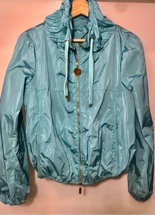 Куртка Moncler p.S  бомбер ветровка спортивная бирюзовая зелёная