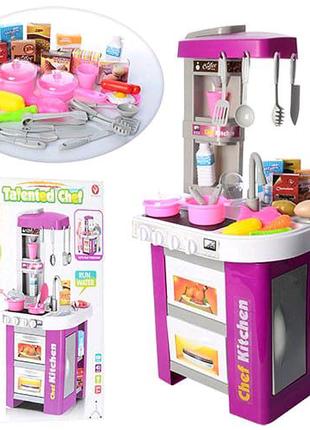 Детская игрушечная кухня с кофеваркой, с мойкой и духовкой, свет