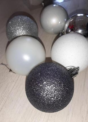 Новогодние игрушки шары на елку 6см, 12 шт