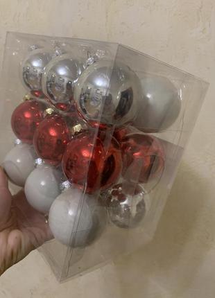 Набор шары шарики на елку елочные украшения xmas bubbles германия