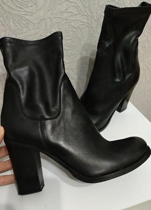 Брендовые кожаные ботинки ботильоны от minelli 40-41 р