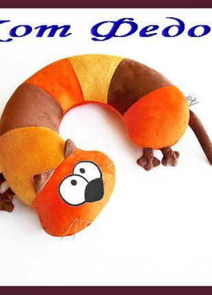 Подушка-подголовник lenkin «кот федот»