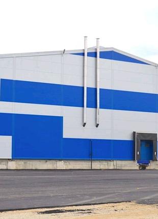 Строительство ангаров складов тех.помещений.