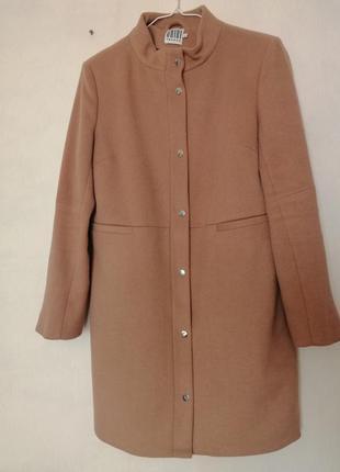 Шерстяное пальто, пальто шерсть 50%,сложного пастельного