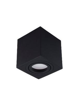 Точечный накладной светильник-куб. Черный 1хGU10