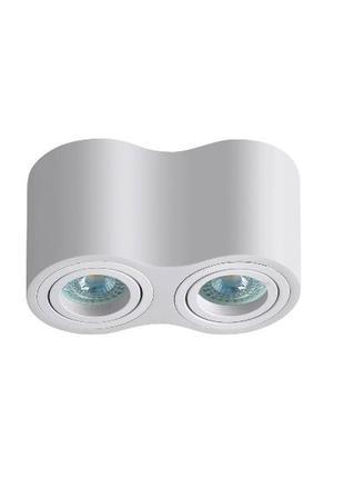 Накладной точечный светильник бочонок двойной GU10