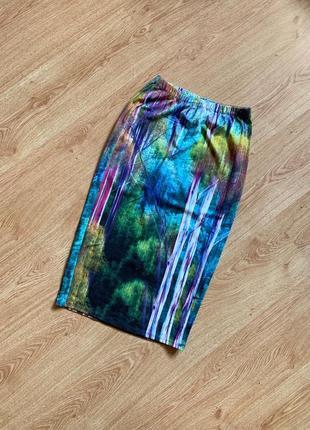 Длинная юбка карандаш с принтом зачарованного леса от topshop ...