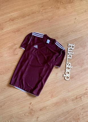 Темно-бордовая спортивная футбольная футболка adidas