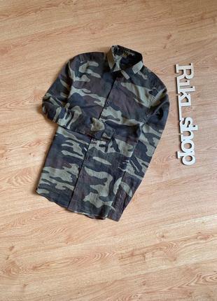 Камуфляжная хаки рубашка asos