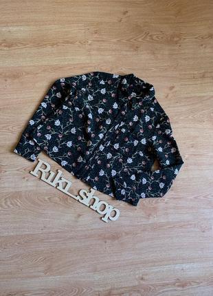 Чёрный зелёный пиджак накидка в цветы флору topshop