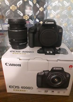 Фотоаппарат Canon 4000d+ ПОДАРОК-КАРТА ПАМЯТИ НА 64 ГБ И СУМКА!