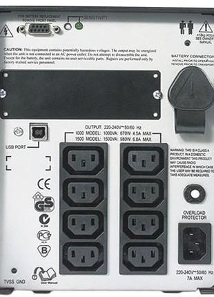 Линейно-интерактивный ИБП APC Smart-UPS 1000VA