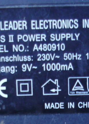 Блок питания Переменный трансф. 9V, 1A Leader Electronics inc. mo
