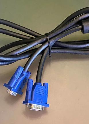 Кабель VGA 1.8M с ферритом монитора пк компьютер мультимедийный